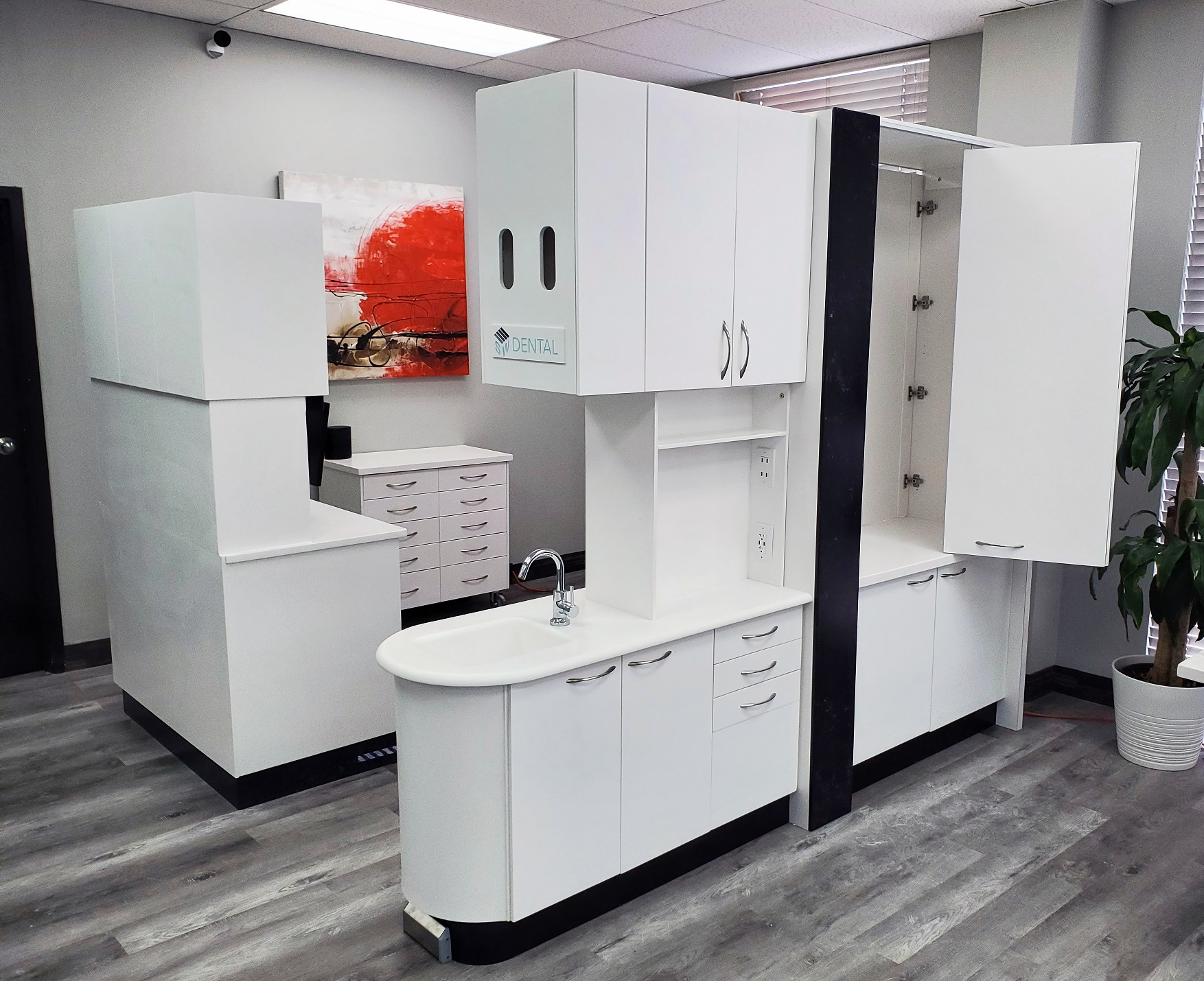 SWDental Corian Dental Cabinetry